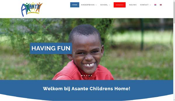 Portfolio Webzeker Webdesign | African Child Foundation