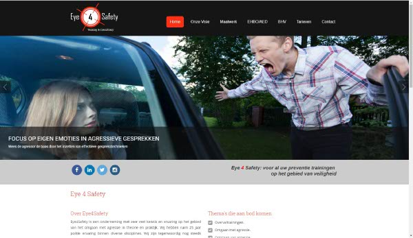 Portfolio Webzeker Webdesign | Eye 4 Safety