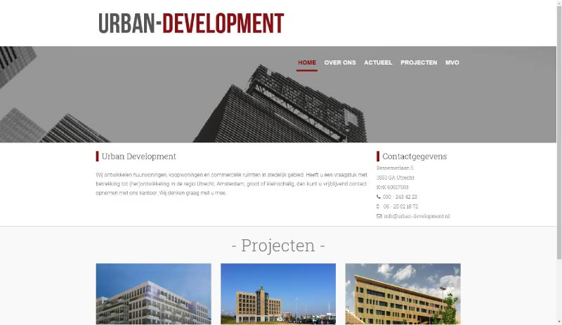 Portfolio Webzeker Webdesign | Urban development