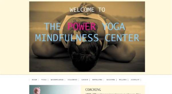 Portfolio Webzeker Webdesign | Power Yoga
